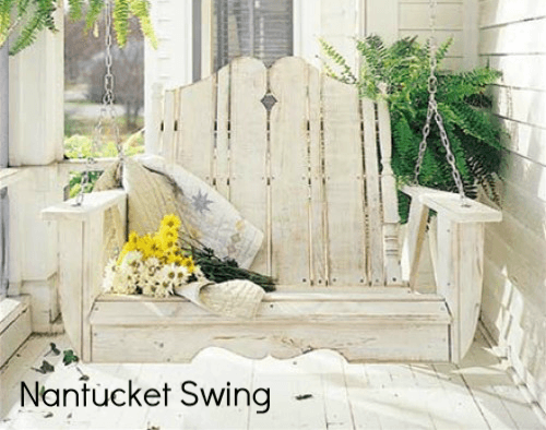 Uwharrie Chair Co. 2-Person Nantucket Porch Swing - Magnolia Porch Swings  - 1