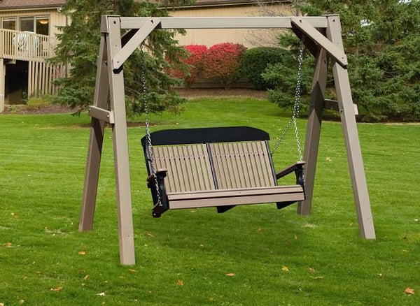 Lux Craft A-Frame Vinyl Swing Stand - Magnolia Porch Swings  - 1