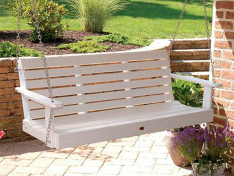 Highwood Weatherly Poly Porch Swing in White
