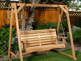 All Things Cedar Western Red Cedar Porch Swing - Magnolia Porch Swings  - 5