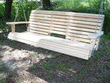 LA Cypress 5 Foot Flip Console Porch Swing - Magnolia Porch Swings  - 3