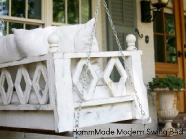 HammMade Modern Swing Bed - Magnolia Porch Swings  - 1