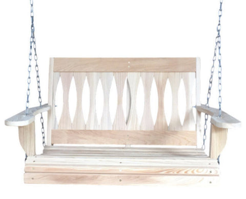 LA Cypress 3 Foot Diamond Back Porch Swing