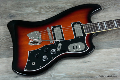 1. Guild S-200 T-Bird in Antique Burst, Newark St. Collection, w/Deluxe Gig Bag - Dudebroski Guitars