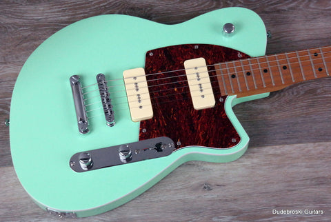 1. Reverend Charger 290 Oceanside Green, Fat, Raw and Bluesy with Just Enuff Bite! - Dudebroski Guitars