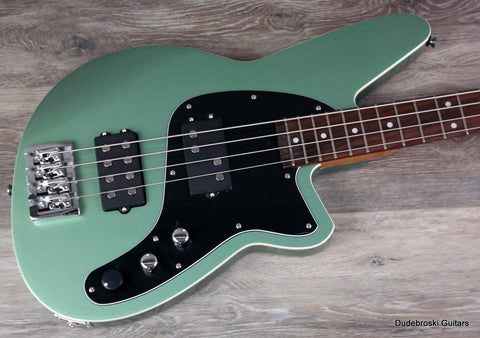 Reverend Mercalli 4 String Bass, Metallic Alpine, Big, Deep and Punchy - Dudebroski Guitars