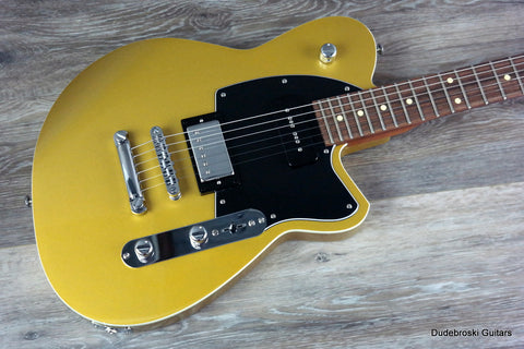 1. Reverend Double Agent OG Venetian Gold, Where Balls Meets Twang Tone - Dudebroski Guitars