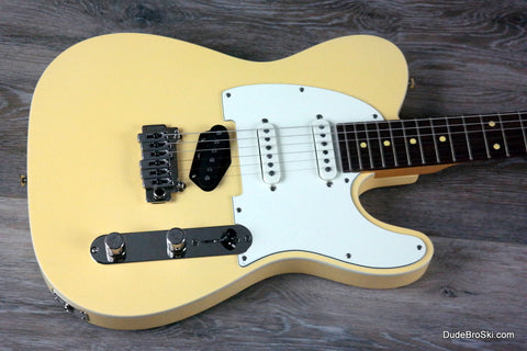 Reverend - Pete Anderson Eastsider S, A True Hot Rod & Tone Machine, Satin Powder Yellow - Dudebroski Guitars