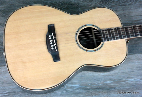 Takamine GY93 Parlor Acoustic Guitar with Spruce Top and 3-pc Rosewood/Maple Back - Dudebroski Guitars