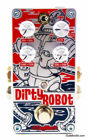 Digitech DirtyRobot - Unique Stereo Synthesizer Emulation Pedal for Guitar and Bass - Dudebroski Guitars
