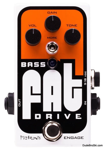 Pigtronix Bass Fat Overdrive - Fine Tuned for Low End Muscle and Grind