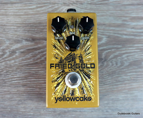 Yellowcake Fried Gold - Mild Overdrive to Blown Out Fuzz - Dudebroski Guitars