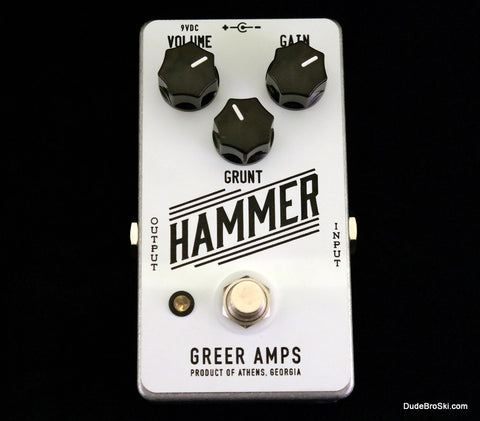 Greer Amps Hammer, Gnarly Distortion to Squashed out Fuzz - Dudebroski Guitars