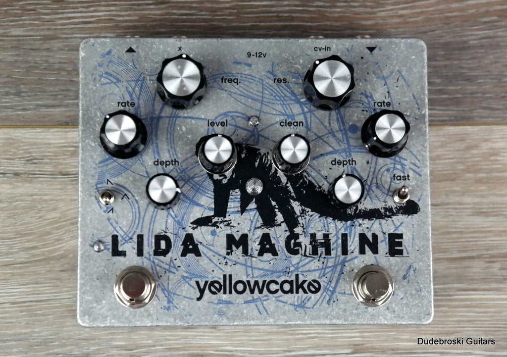 Yellowcake Lida Machine, Dual-LFO Filter Pedal, Dreamy Sweeps or Nasty Distorted Oscillation