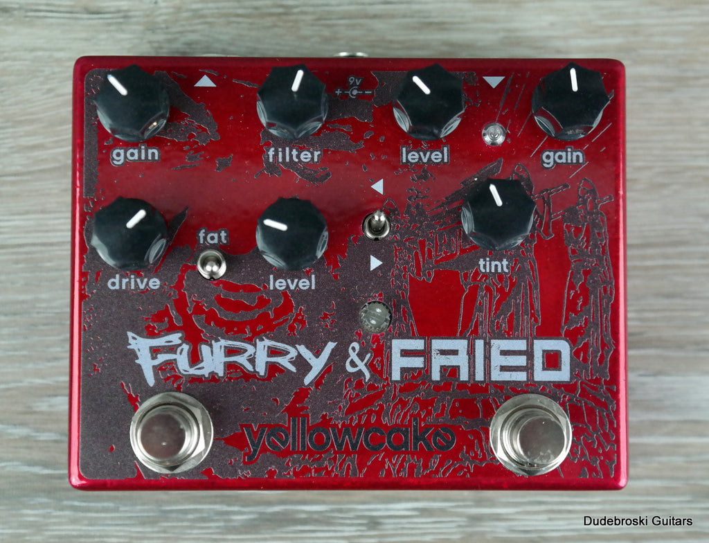 Yellowcake Furry and Fried, a Versatile Overdrive and Fuzz Pedal Combo