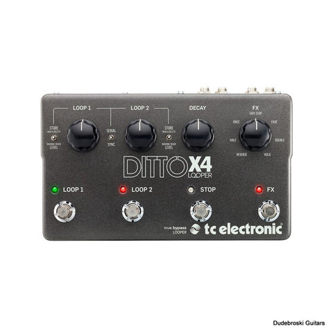 TC Electronic Ditto X4 Looper, Dual-Track Guitar Looper Pedal with Powerful Loop Effects