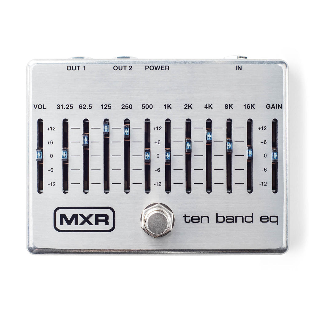 MXR 10 Band EQ M-108S, Provides 12dB of Serious Cut or Boost w/Big Headroom!