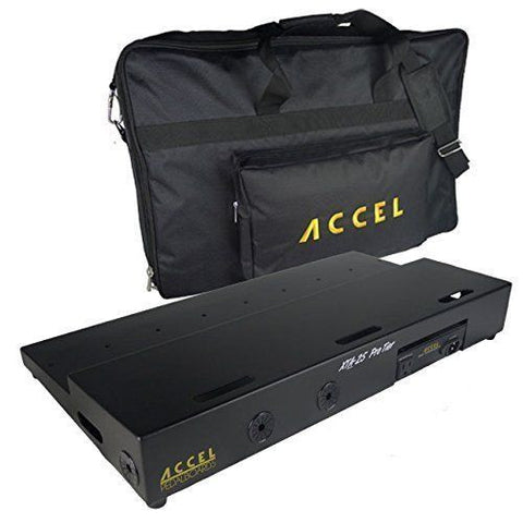 "Accel - XTA25 (25"" x 13"") Tiered Pedalboard, Power Supply & Gig Bag Combo, SAVE! - Dudebroski Guitars"