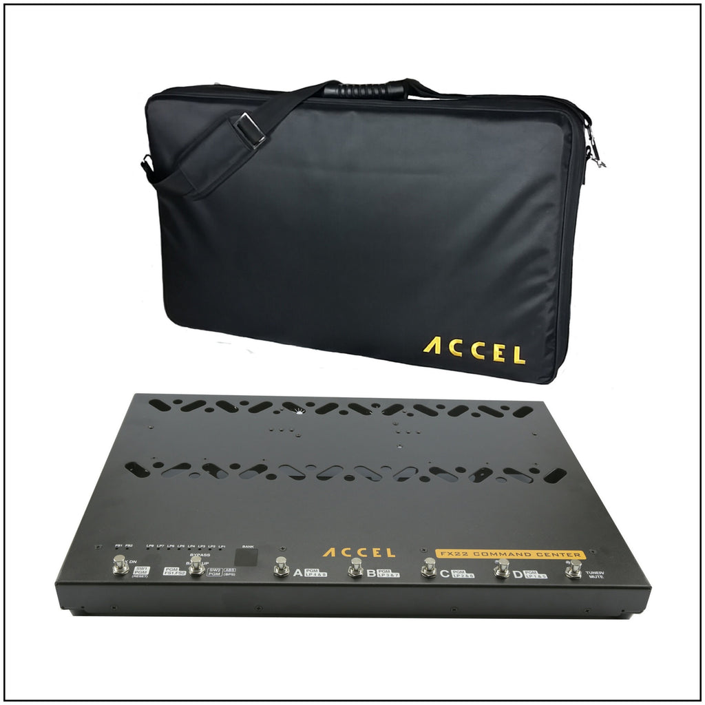 Accel FX22 Command Center, Pedal Board with Built-in 8 Loop Switcher and Tote