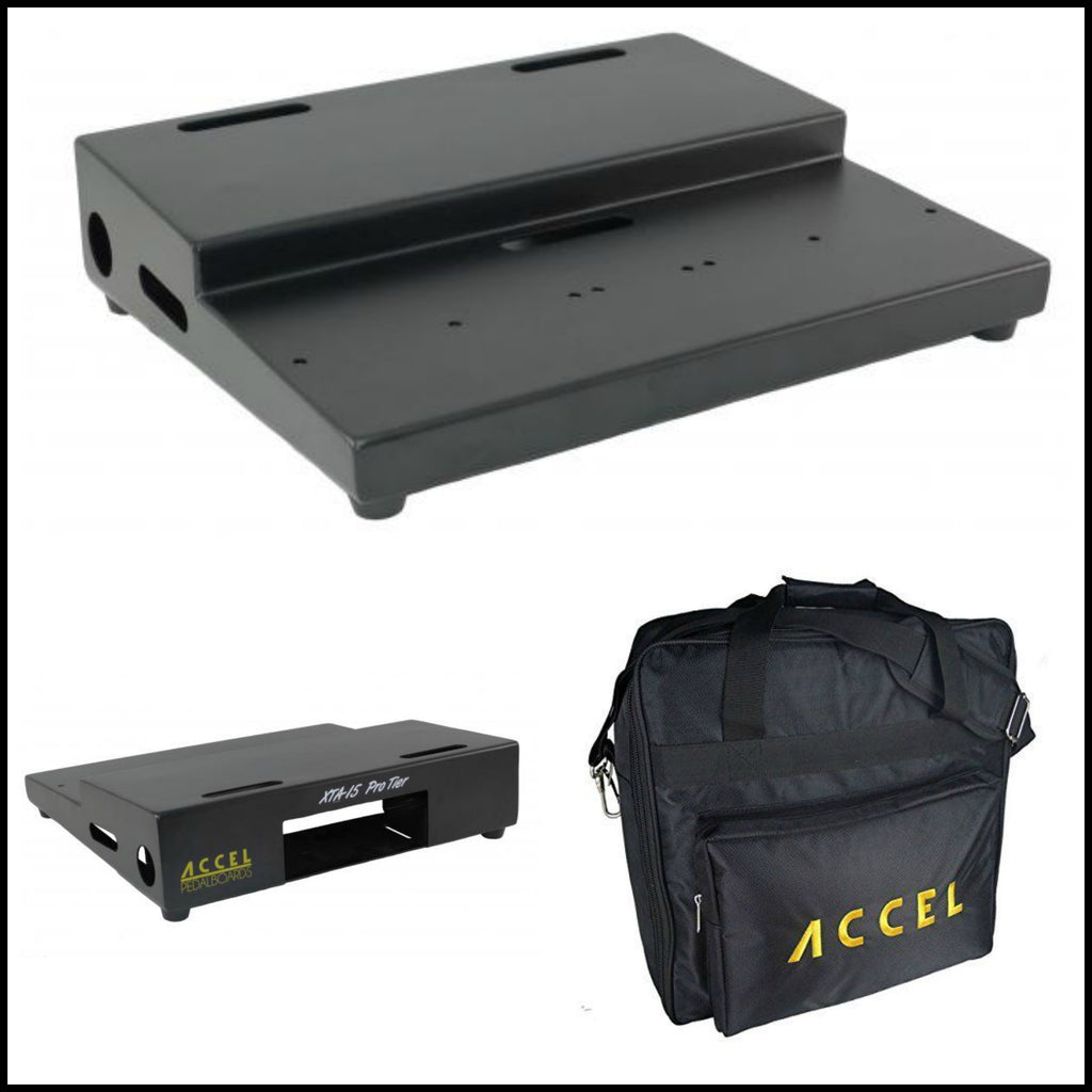 "Accel XTA 15 Pro Tiered Pedal board (15"" x 13"") Built Rock Solid w/Air Craft Grade Aluminum"