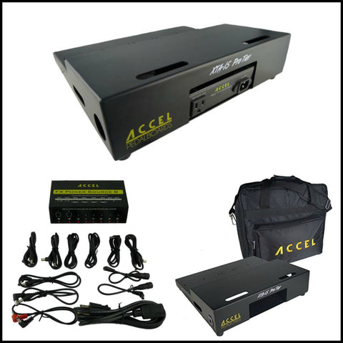 "Accel XTA 15 Pro Tiered Pedalboard (15"" x 13"") Power Supply & Gig Bag Combo, SAVE! - Dudebroski Guitars"