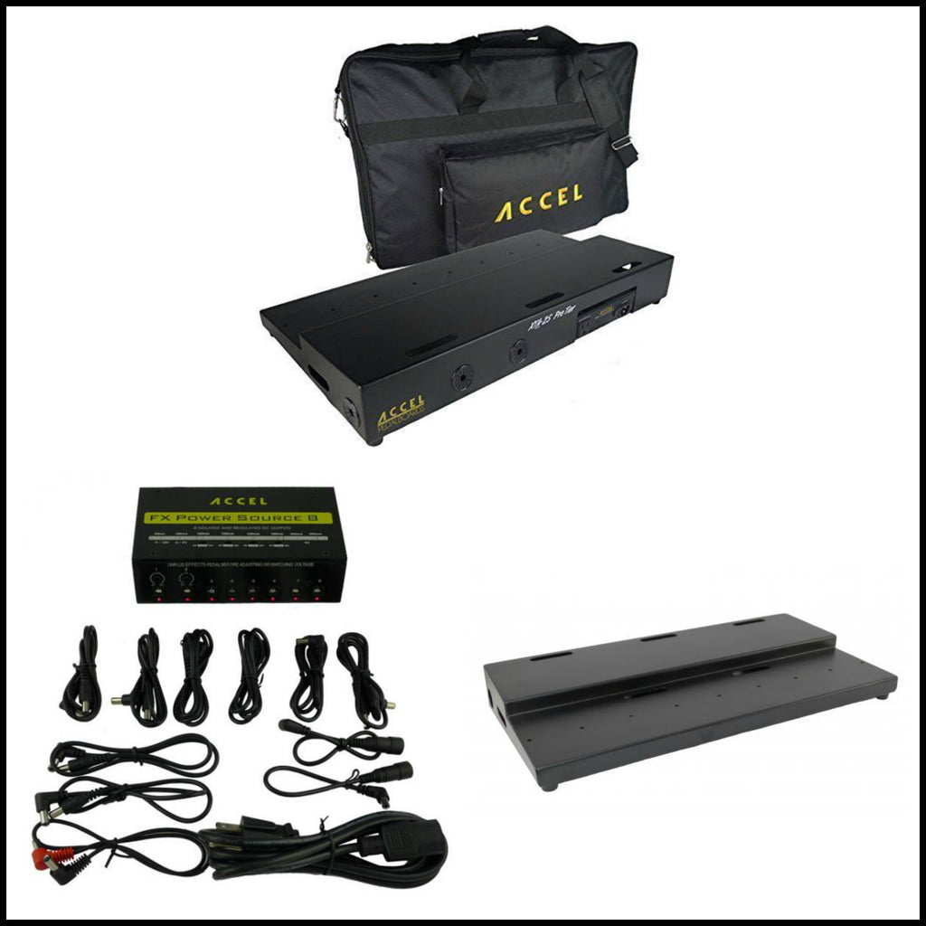"Accel XTA 25 Pro Combo, Includes Tier Pedal Board (25"" x 13""), Power Supply & Gig Bag"