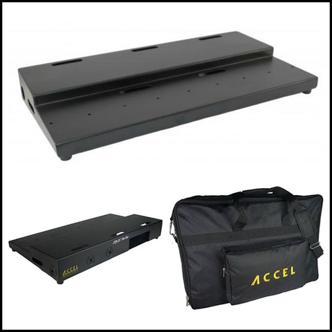 "Accel XTA25 Pro, Tier Pedal Board & Tote (25"" x 13"") Built Rock Solid, Air Craft Grade Aluminum - Dudebroski Guitars"