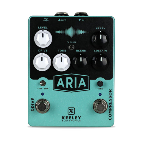 Keeley Aria Compressor Overdrive, Dual Effect Overdrive and Compressor - Dudebroski Guitars