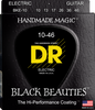 DR Black Beauties Coated Electric Guitar Strings, Medium 10-46 - Dudebroski Guitars