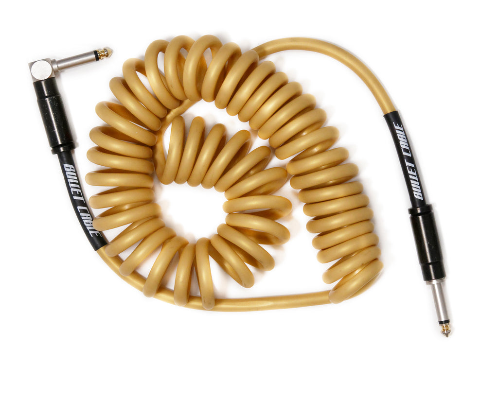 Bullet Gold 15' Coil Cable, Engineered for Noticeable Signal Quality and Clarity of Tone