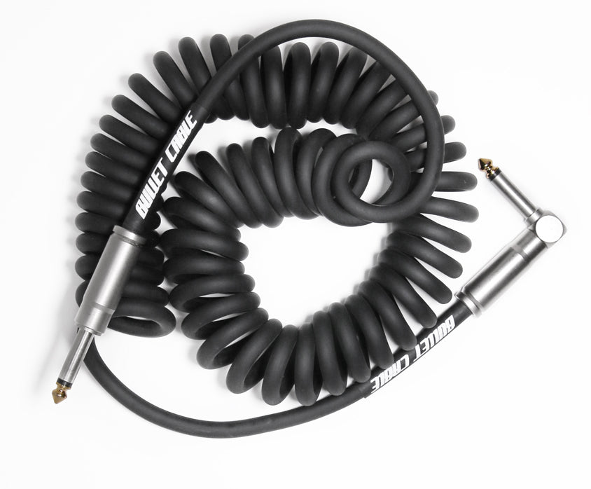 Bullet Black 15' Coil Cable, Engineered for Noticeable Signal Quality and Clarity of Tone