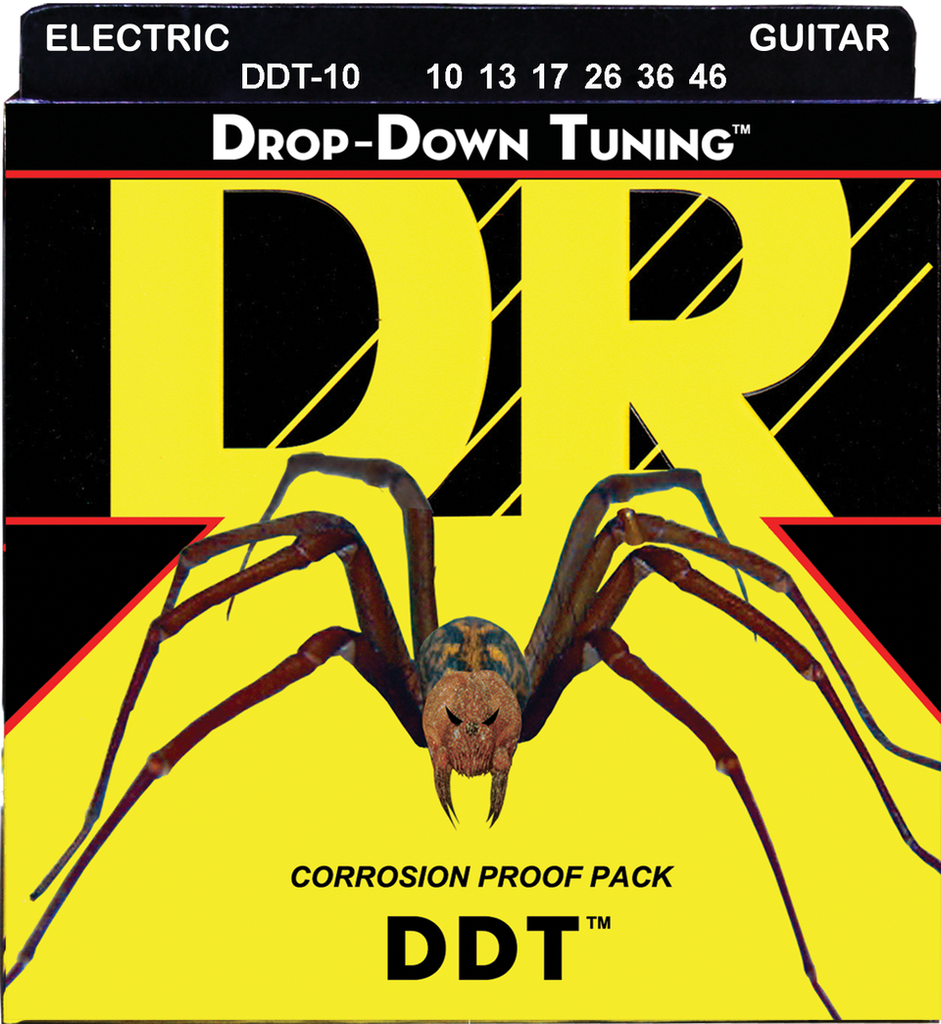DR Drop Down Tuning (DDT) Nickel Electric Guitar Strings, Medium 10-46