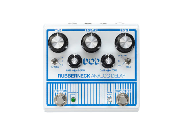 DOD Rubberneck Analog Delay, Tap Tempo, Subdivisions & Trails, Good Times!