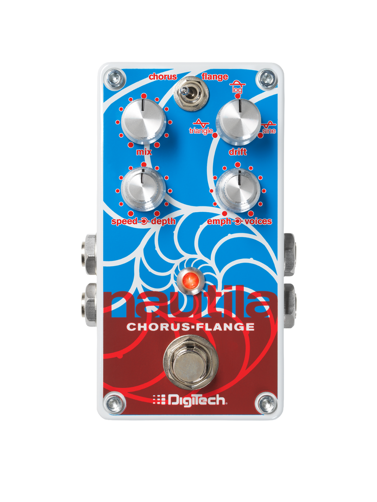 Digitech Nautila - Multi-Voice Chorus/Flanger, Rich Sonic Swirls to Creamy Rhythmic Waves