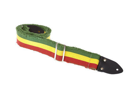"Henry Heller 2"" heavy cotton guitar strap in a mod jamaican design - Dudebroski Guitars"
