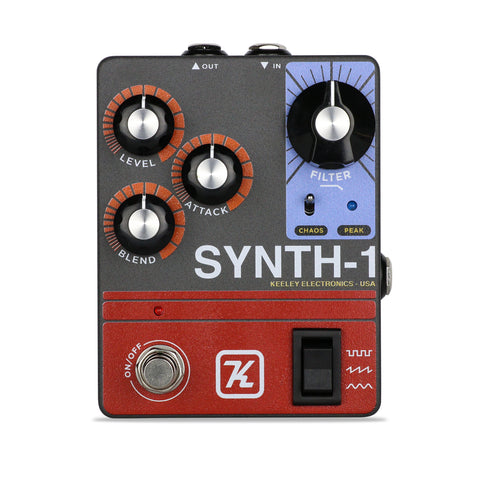 Keeley Synth-1 Reverse Attack Fuzz Wave Generator, Synthesizer Tones for your Guitar - Dudebroski Guitars