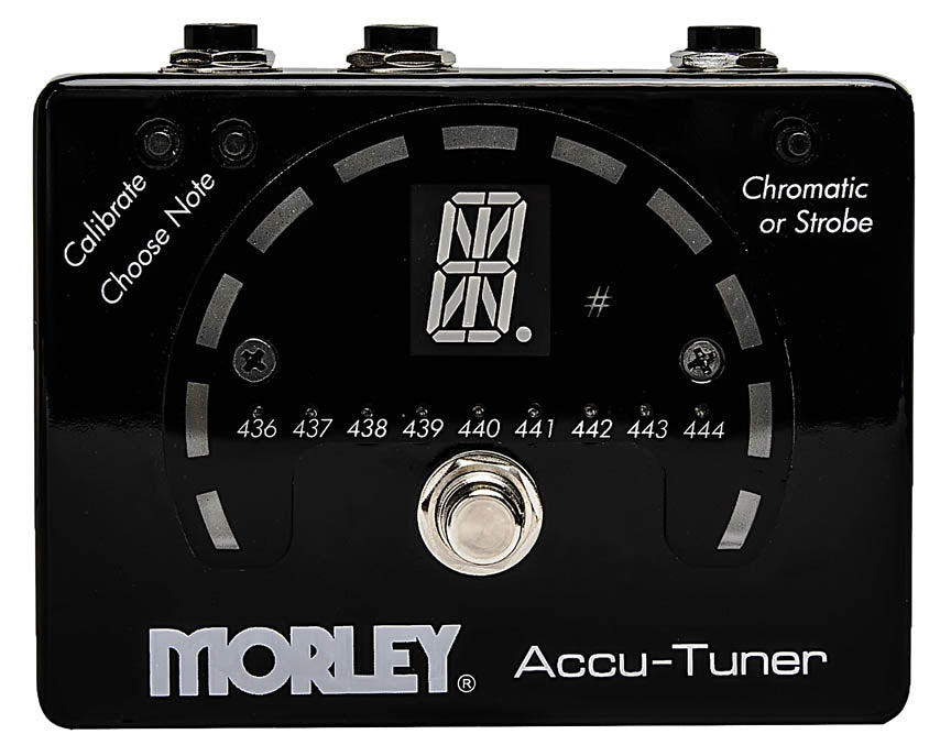 Morley Accu-Tuner, Strobe and Chromatic Tuner in a Stomp Box Format