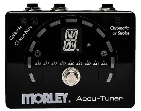 Morley Accu-Tuner, Strobe and Chromatic Tuner in a Stomp Box Format - Dudebroski Guitars