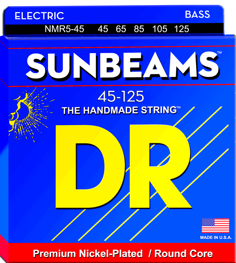 DR Sunbeam -  Nickel Plated Bass Strings wound on a Round Cores