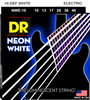 DR NEONs White Coated Electric Guitar Strings, Medium 10-46 - Dudebroski Guitars