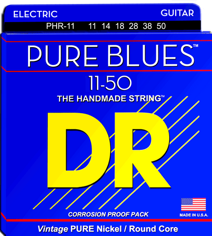 DR Pure Blues Nickel Electric Guitar Strings, a Vintage Style String, Heavy 11-50 - Dudebroski Guitars
