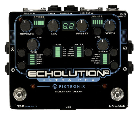 Pigtronix Echolution 2 Ultra Pro, State-of-the-Art Analog & Digital Delay - Dudebroski Guitars
