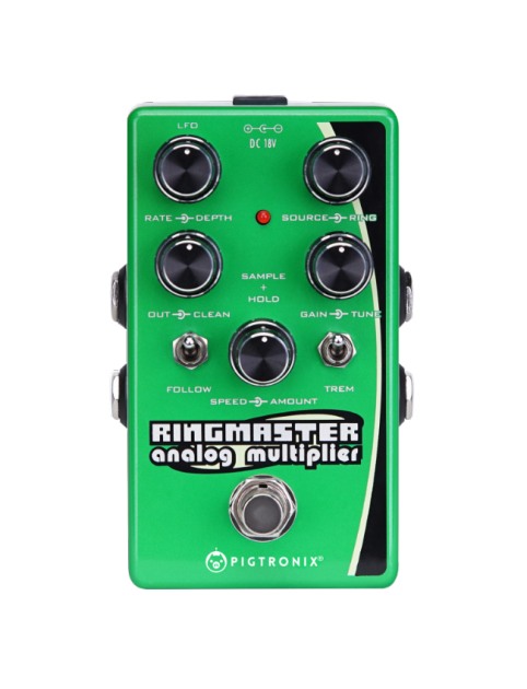 Pigtronix Ringmaster, A Ring Modulator Synth, Analog Harmonizer and Tremolo Effects