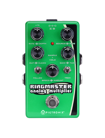 Pigtronix Ringmaster, A Ring Modulator Synth, Analog Harmonizer and Tremolo Effects - Dudebroski Guitars