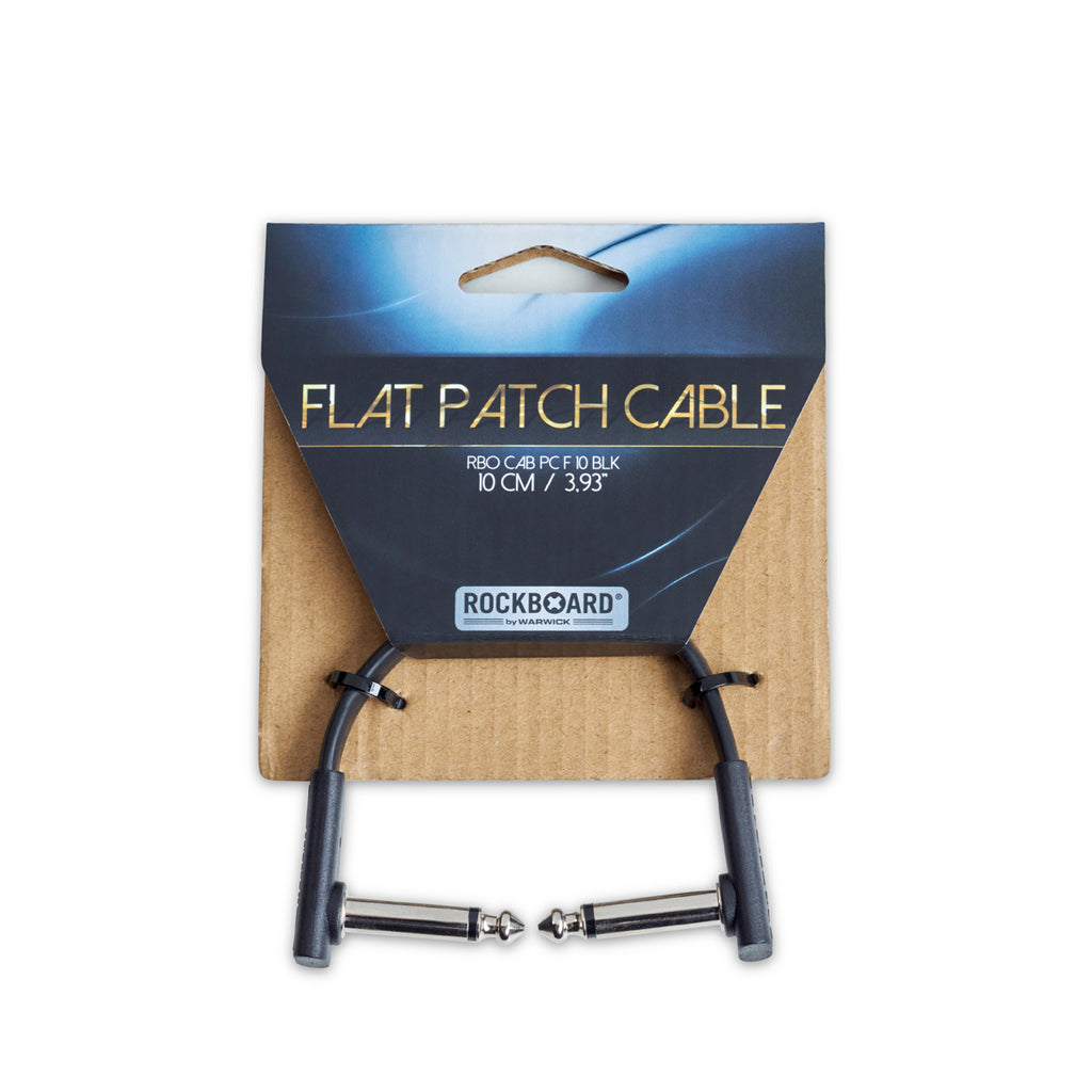 RockBoard 10cm Patch Cables, Black, Extra Flat and Space-Saving Connection