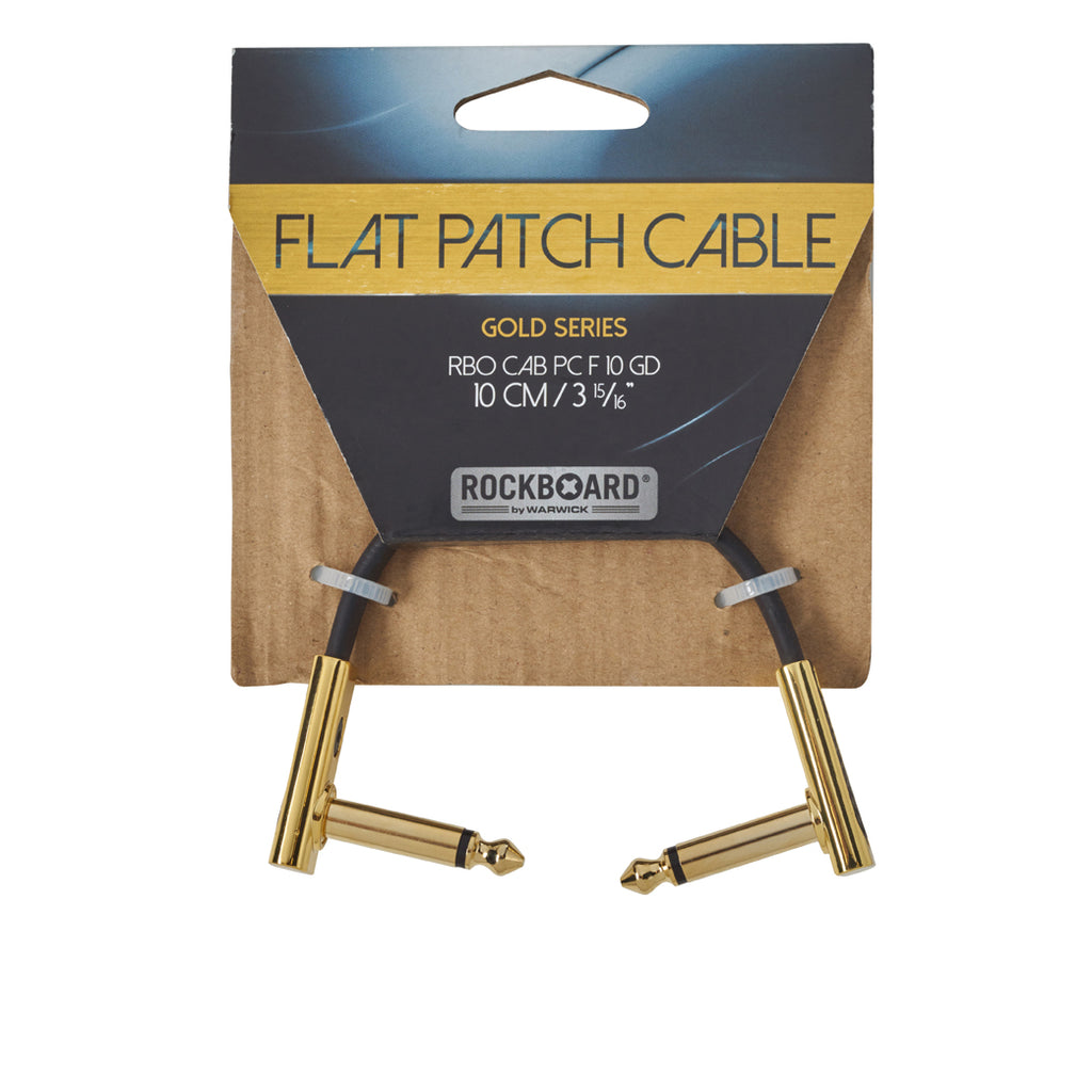 RockBoard 10cm Patch Cables, Gold-Plated, Extra Flat and Space-Saving Connection