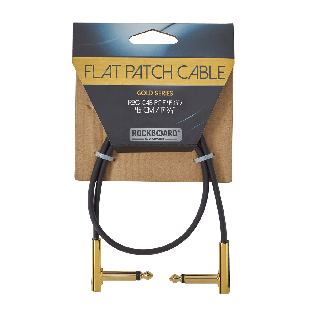RockBoard 45cm Patch Cables, Gold-Plated, Extra Flat and Space-Saving Connection