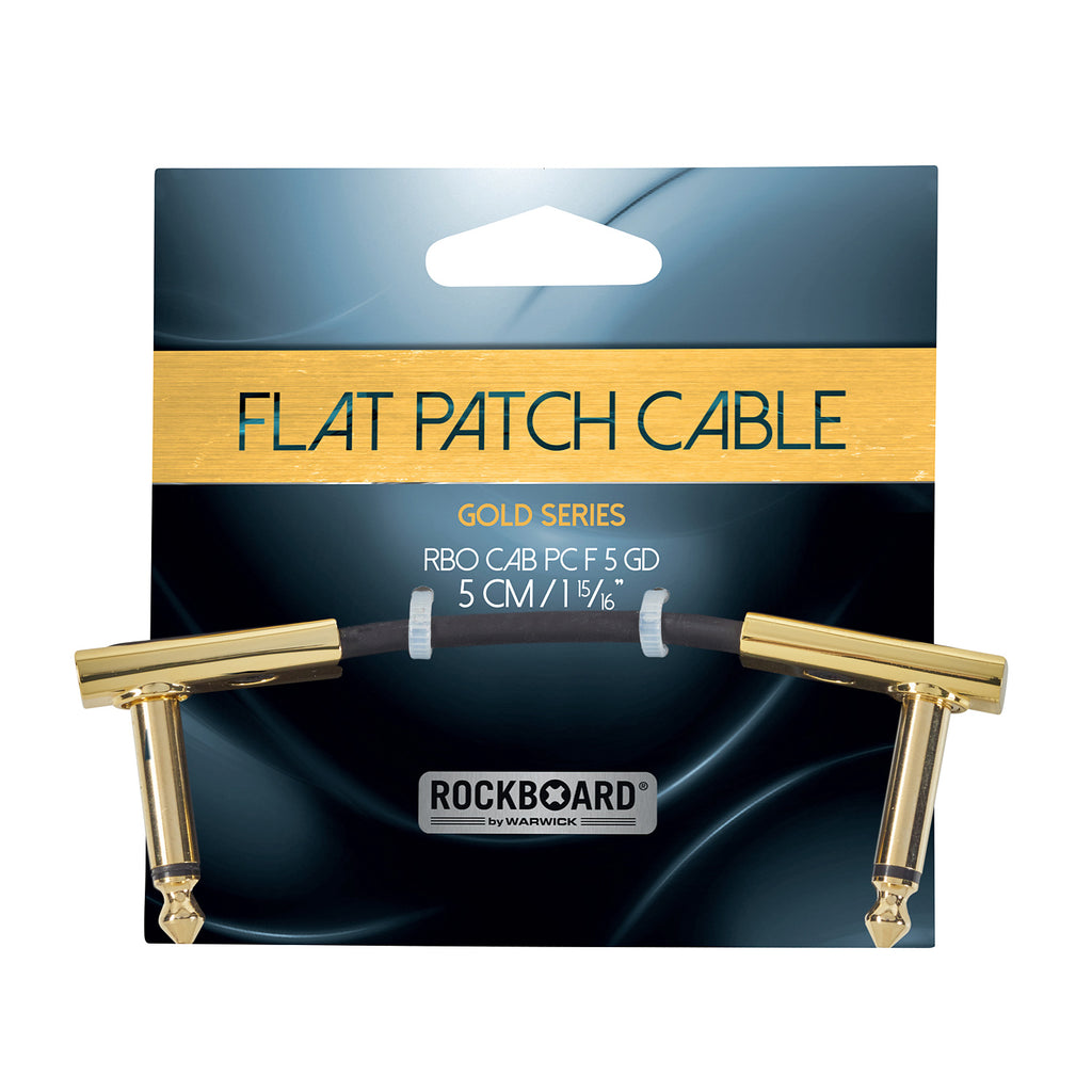 RockBoard 5cm Patch Cables, Gold-Plated, Extra Flat and Space-Saving Connection