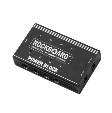 Rockboard Power Block, Compact Power Supply for 10 Guitar Effect Pedals