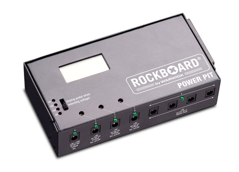 RockBoard Power Pit, 4-ISO and 4-9V Outputs, Screen Equipped Adjustable Voltage - Dudebroski Guitars